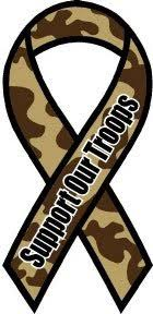 camouflage ribbon camouflage brown camo support our troops 8 quot ribbon car magnet