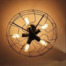 industrial hooked edison bulb loft vintage ceiling fan with lights