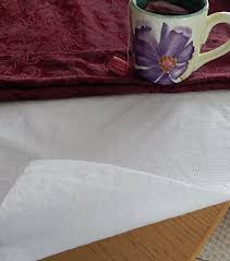 flannel backed vinyl table pad flannel backed table pad by elrene white assorted sizes 52 x 108