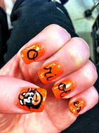 if you love the baltimore orioles you will love these nails by