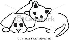 cute cat and dog silhouettes logo eps vectors search clip art