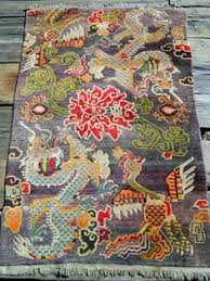 Tibetan Hand Knotted Rug A Contemporary Tibetan Hand Knotted Rug Depicting The U0027four