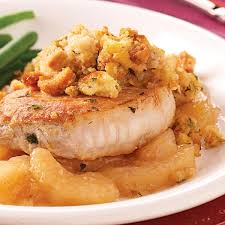pork chops with apples and stuffing recipe taste of home