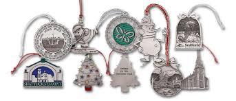 Custom Made Christmas Ornaments by Custom Pewter Christmas Ornaments Your Logo Your Design