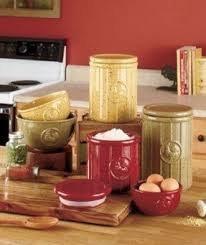 Tuscan Kitchen Canister Sets Beautiful Yellow Kitchen Canisters