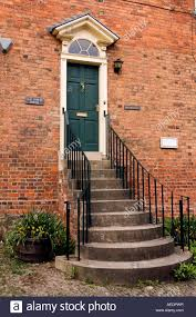 uk wales powys montgomery arthur street tall steps to old stores