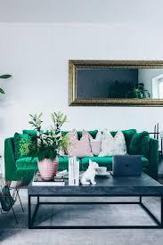 Wohnzimmer Grau Petrol Die Besten 25 Grünes Sofa Ideen Auf Pinterest Samt Sofa