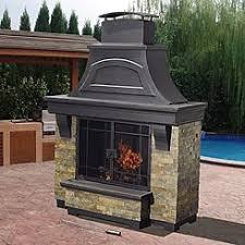 Stacked Stone Outdoor Fireplace - electric fireplace stacked stone