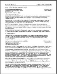 Examples Of Federal Resumes by Military Resume Example Resume Examples And Free Resume Builder