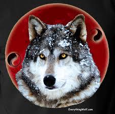 yin yang wolf t shirt l