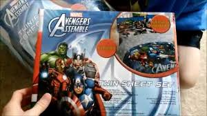 Superhero Twin Bedding Avengers Marvel Twin Set Bedding Review Youtube
