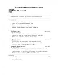 Computer Programmer Resume Example by Curriculum Vitae Download The Template Police Officer Sample