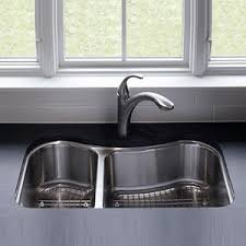 KNA Staccato Stainless Steel Undermount Double Bowl Kitchen - Kohler double kitchen sink