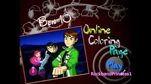 ben 10 games ben ten coloring games