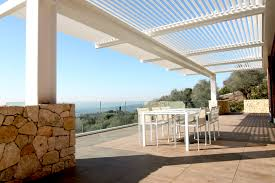 Pergola With Movable Louvers by Blade 180 Wall Mounted Pergola By Studio 66