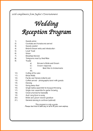 traditional wedding program template traditional wedding reception order of events wedding ideas 2018