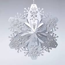 stardream silver large 3d snowflakes