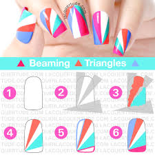 summer beaming triangles nail art u0026 tutorial lacquertude
