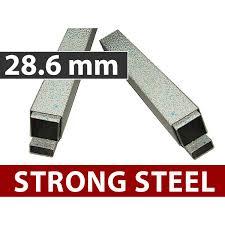 Steel Pop Up Gazebo Waterproof by Up Gazebo 3x6 M White Incl 6 Sidewalls