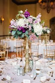 Tall Wedding Reception Centerpieces by Wedding Reception Centerpiece Of White Hydrangea Lavender Roses