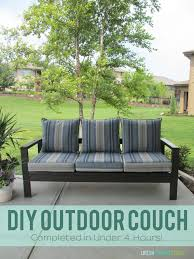 Diy Outdoor Furniture Diy Outdoor Couch Life On Virginia Street