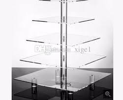 5 tier cake stand 2018 5 tier acrylic square wedding cake stand cupcake stand tower