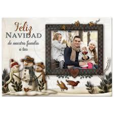 feliz navidad christmas card flat 5x7 feliz navidad card personalized photo