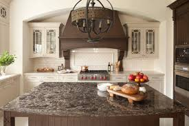 granite countertop kitchen designs with white cabinets and black