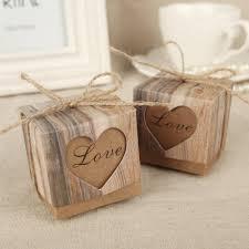 amazon com aketek 50pcs candy boxes love rustic kraft bonbonniere