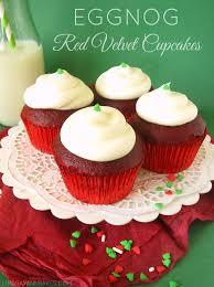 eggnog red velvet cupcakes lindsay ann bakes