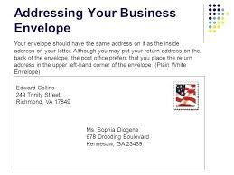 Business Letter Return Address how to address a business letter envelope of letters