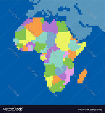 World Map Of Africa by Pixel Map Of Africa Royalty Free Vector Image Vectorstock