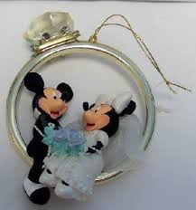 disney mickey groom minnie wedding ring ornament new