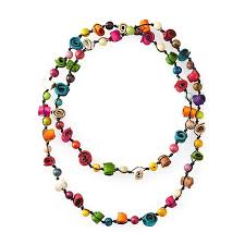 multi colored necklace images Citrus twist multi colored necklace women 39 s jewelry orange peel jpg