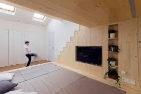20 sqm children playroom interior design idea with two mezzanine