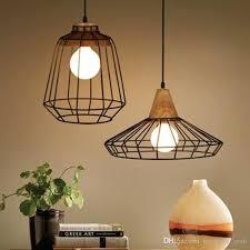 Iron Pendant Light Innovative Single Hanging Light Retro Pendant Light Wood And Iron