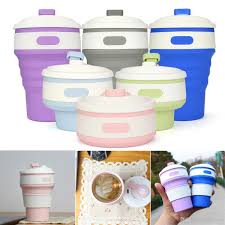 Cheap Water Storage Containers Silicone Portable Collapsible Coffee Tea Drink Bottle Foldable