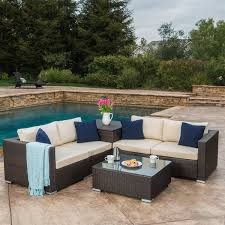 sofa rosa santa rosa outdoor 6 wicker sectional sofa with storage by