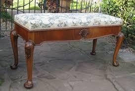 walnut cabriole leg duet piano stool c1920 266711