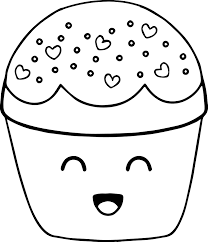 very cute boy cupcake cartoon coloring page wecoloringpage