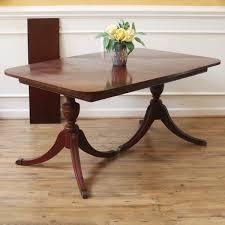 antique mahogany pedestal table vintage duncan phyfe dining table mahogany american c1930 s