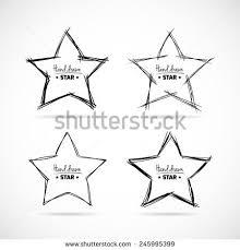 set yellow hand drawn doodle stars stock vector 611980757