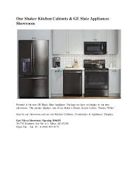 white kitchen cabinets with black slate appliances new showroom ge black slate appliances