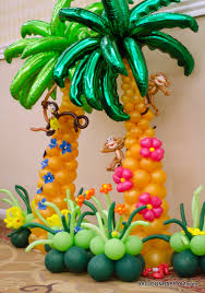 luau decorations aloha mitzvah a luau in balloons