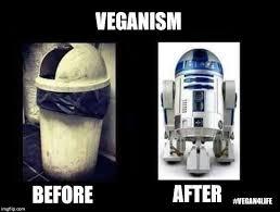 R2d2 Memes - veganism before and after vegan meme vegan humor vegan