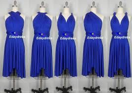 Royal Blue Wedding Wedding Dress Short Bridesmaid Dress Infinity Dress Royal Blue