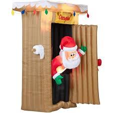santa outhouse airblown