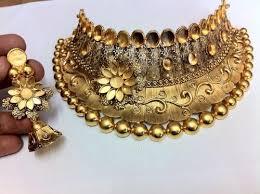 antique gold necklace images Antique gold necklace gold antique necklace soni bazar rajkot jpg
