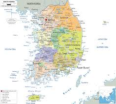 Middle East Map Capitals by Detailed Clear Large Map Of South Korea Ezilon Maps