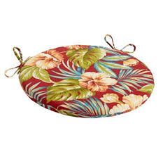 arbor gate red tropical indoor outdoor bistro chair cushion 15